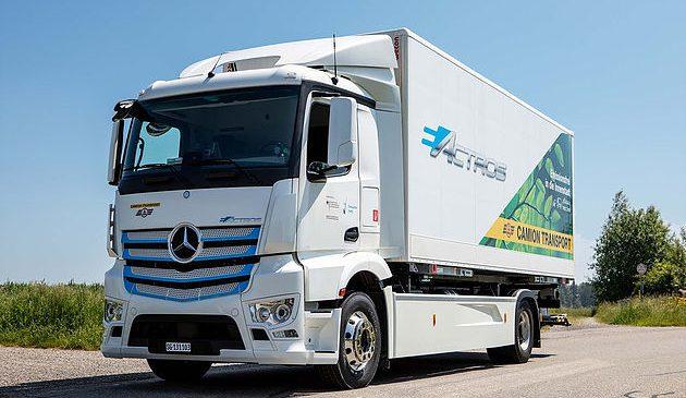eActros, o pesado elétrico da Mercedes-Benz chega na Suíça