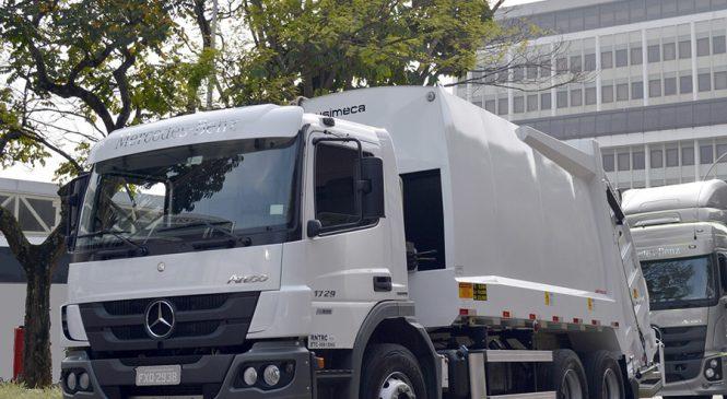 Mercedes-Benz Atego brasileiros com transmissões Allison chegam à Colômbia para coleta de resíduos