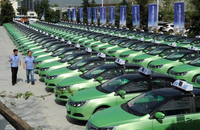 Xi'an lança 200 táxis elétricos; a energia limpa deve substituir o gás até 2019