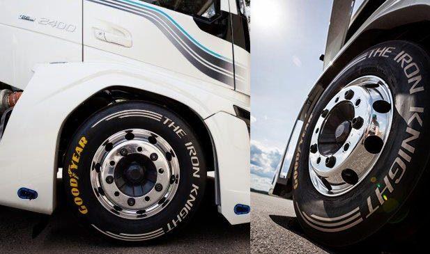 Caminhão mais rápido do mundo acelera com pneus Goodyear