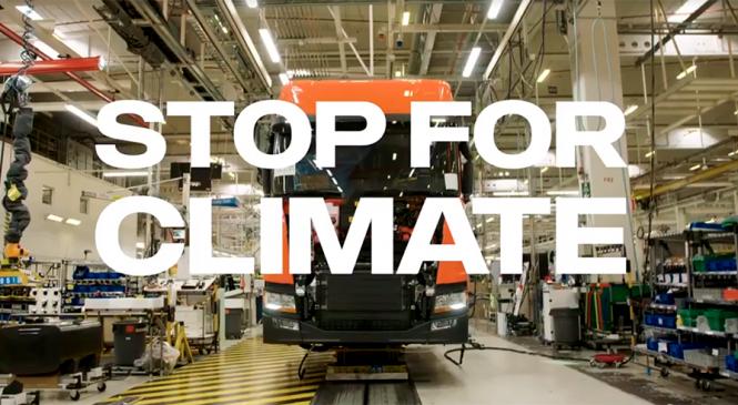 Scania promove o Dia do Clima e unidades industriais e comerciais em todo o mundo param suas atividades para falar sobre sustentabilidade