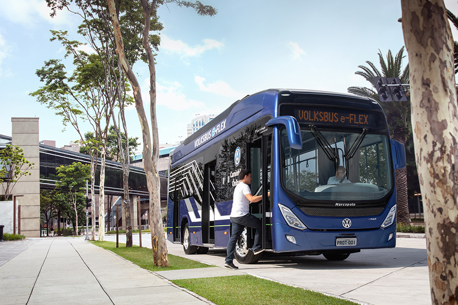 Volksbus e-Flex: uma solução elétrica sob medida para transporte de passageiros