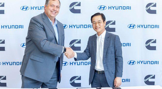 Cummins e Hyundai anunciam  entendimento de colaboração em tecnologia de célula de combustível