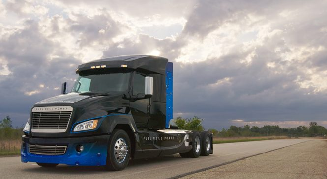 Cummins apresenta caminhão de célula de combustível a hidrogênio em Atlanta
