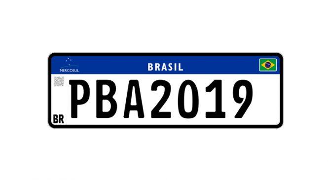 Paraíba adere ao novo modelo de placas no padrão Mercosul