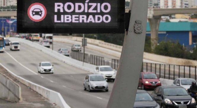 Rodízio de veículos em São Paulo será suspenso a partir de 23 de dezembro