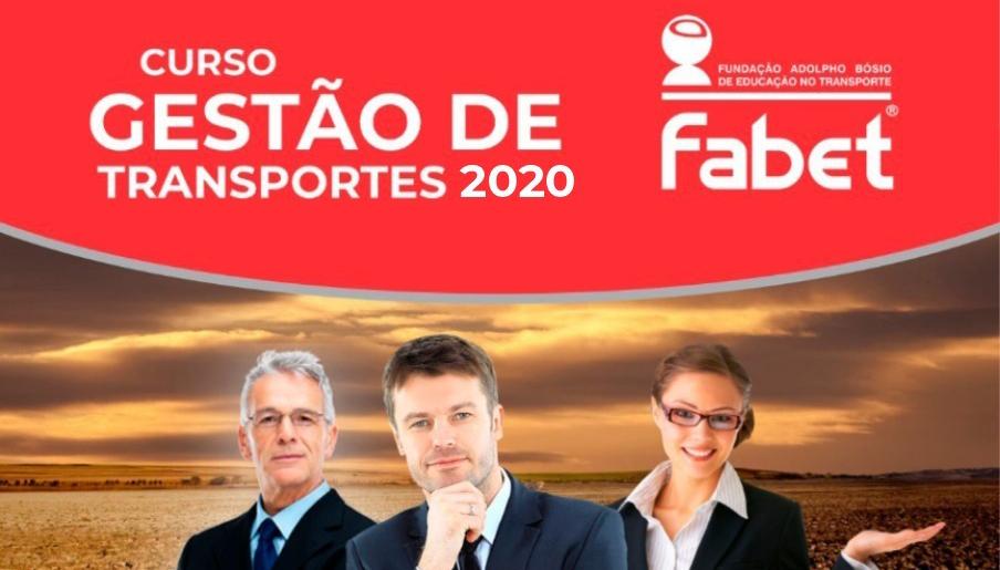 Fabet abre inscrições para o Curso de Gestão de Transportes 2020