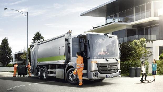 Daimler anuncia caminhão de lixo totalmente elétrico