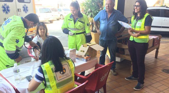 Motoristas recebem ação de conscientização para o trânsito em Araraquara