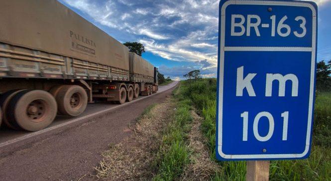 Pavimentação da BR-163 no Pará duplicará transporte de grãos em 5 anos, dizem exportadores