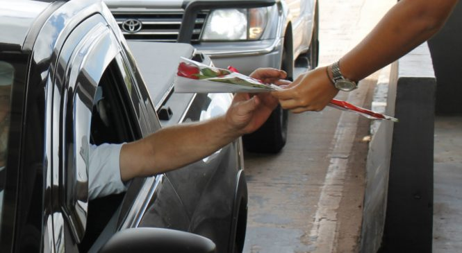 Mulheres receberão rosas em rodovias do Paraná