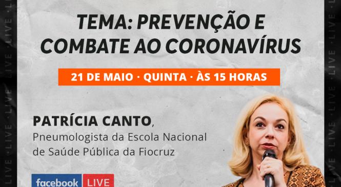 Live Chico da Boleia com Dra Patrícia Canto acontece nesta quinta-feira