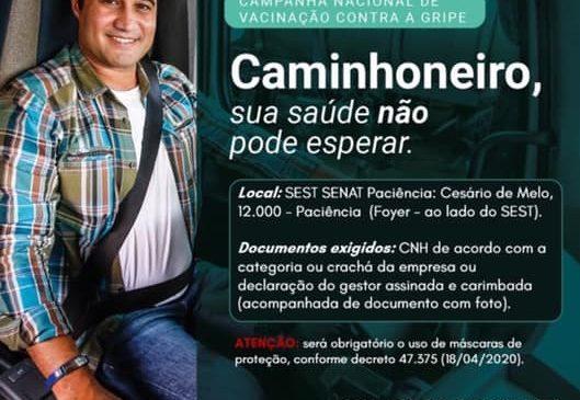 Sest Senat de Paciência, RJ, realiza campanha de vacinação para profissionais do transporte