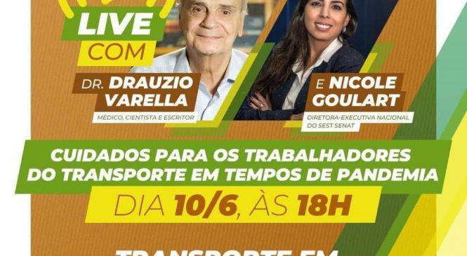 Sest Senat realiza Live com Drauzio Varella