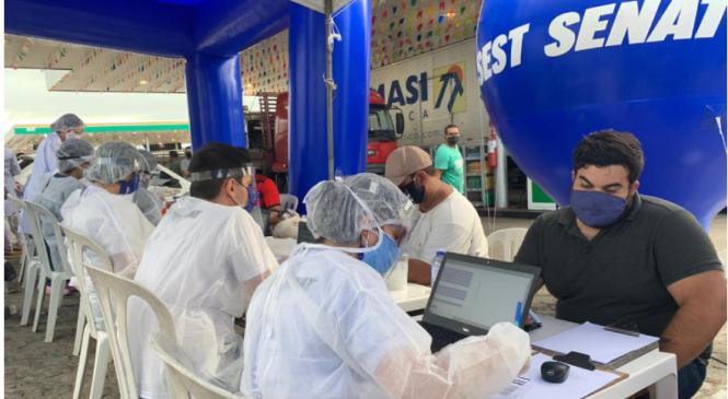 SEST SENAT já realizou mais de 27 mil testes rápidos da covid-19 em trabalhadores do transporte