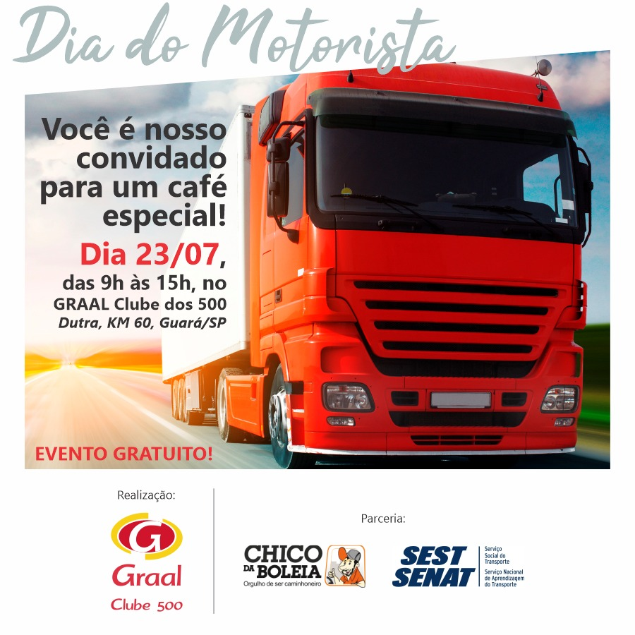 Posto Graal Clube dos 500 promove café da manhã em homenagem ao Dia do Motorista