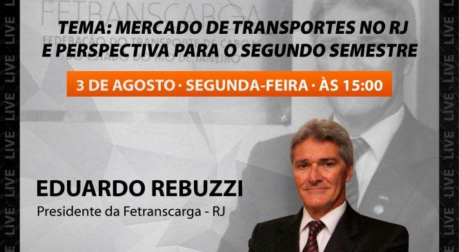 Live Chico da Boleia recebe Eduardo Rebuzzi, presidente da Fetranscarga RJ
