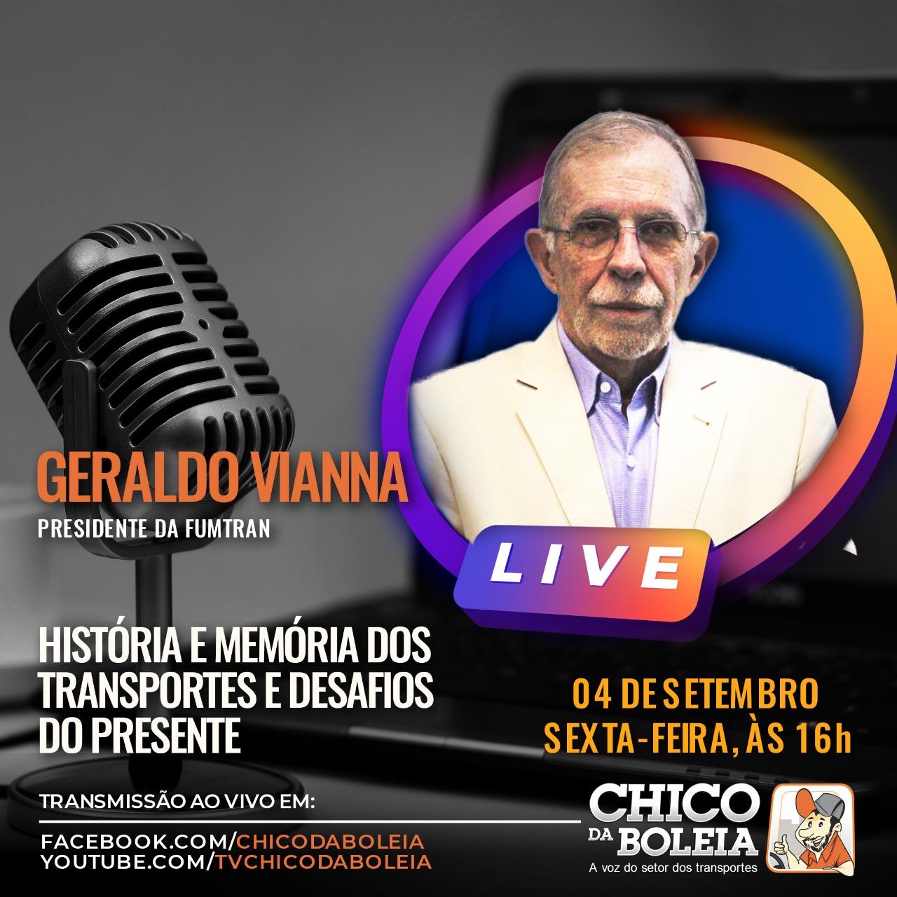 Presidente da FuMTran é o convidado especial em nova live do Chico da Boleia