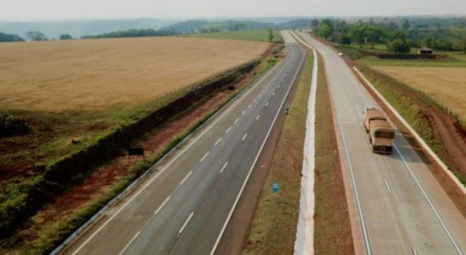 Ministério da Infraestrutura libera mais nove quilômetros de pista duplicada na BR-163/PR