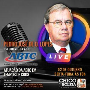 Chico da Boleia entrevista presidente da ABTC nesta sexta-feira (02)