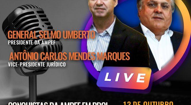 Live com representantes da AMPEF acontece na terça-feira (13)