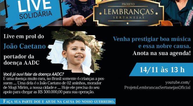 Irmãos Davoli promove live sertaneja em prol do pequeno João Caetano