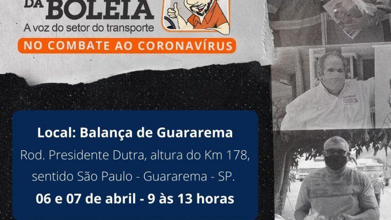 Ação da Rede Solidária Chico da Boleia acontece nos dias 6 e 7 de abril