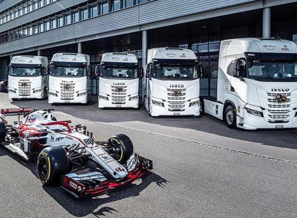 Caminhões IVECO entram para a frota da equipe Alfa Romeo Racing ORLEN