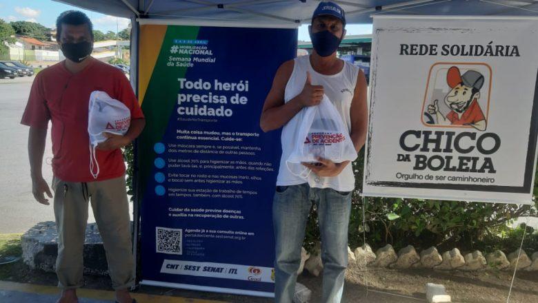 """""""Rede Solidária Chico da Boleia"""" distribui 830 kits de higiene ao longo de quatro dias"""