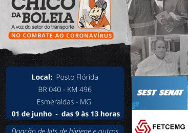Ações da Rede Solidária Chico da Boleia chegam a Minas Gerais