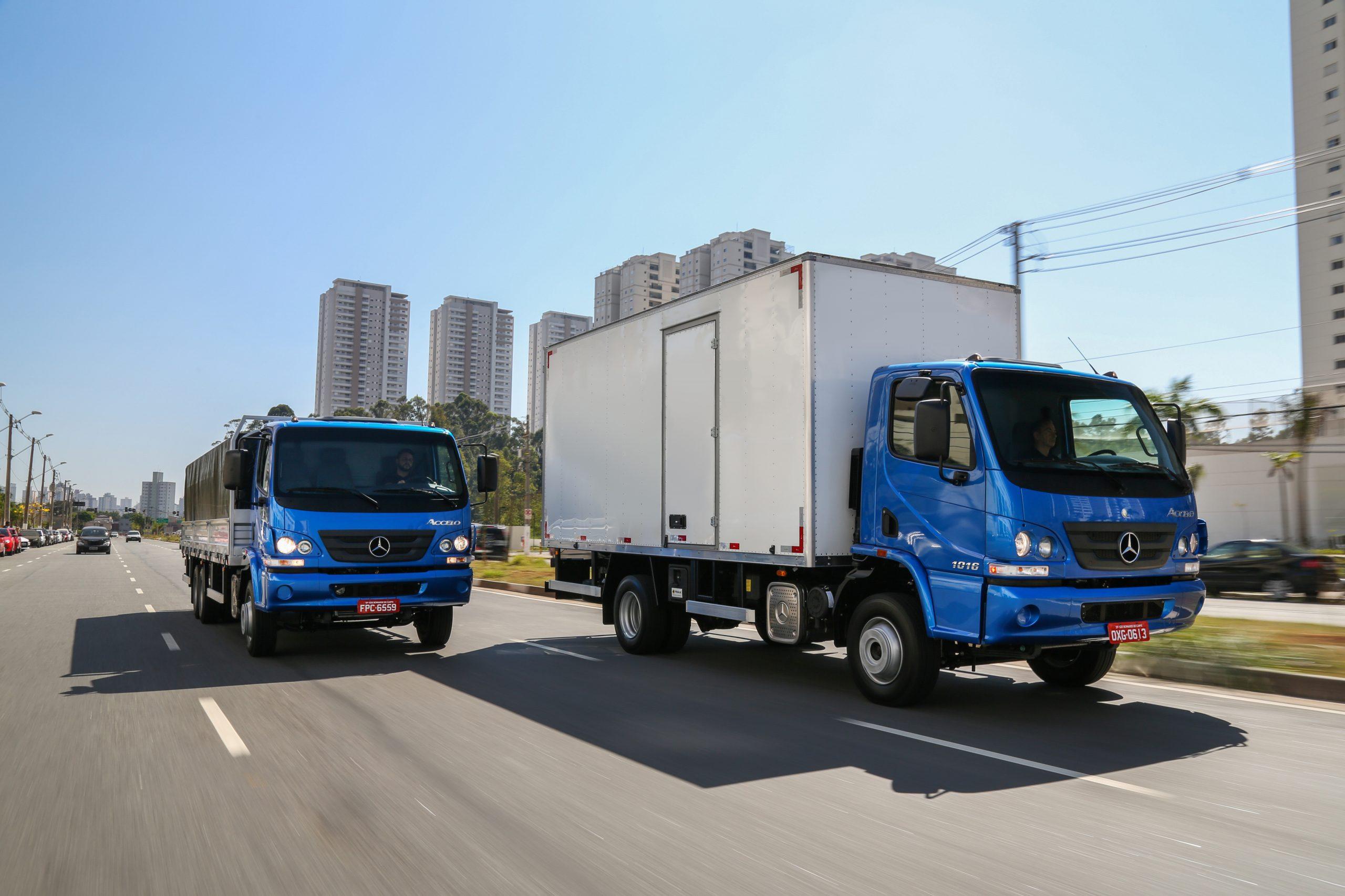 Mercedes-Benz lidera as vendas de caminhões leves no primeiro quadrimestre