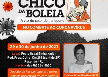 Ação da Rede Solidária em Resende (RJ) tem participação da Sula Miranda