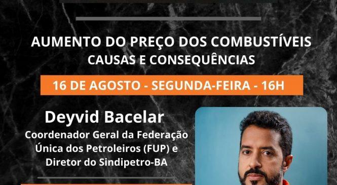 Chico da Boleia realiza live para debater aumento nos preços do combustíveis